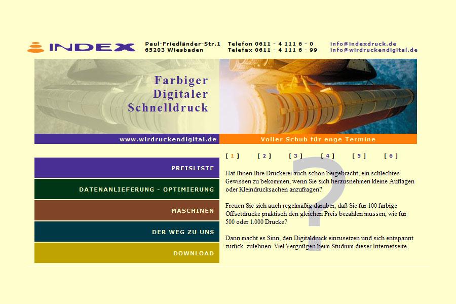 Webdesign für Index Digitaldruck Wiesbaden