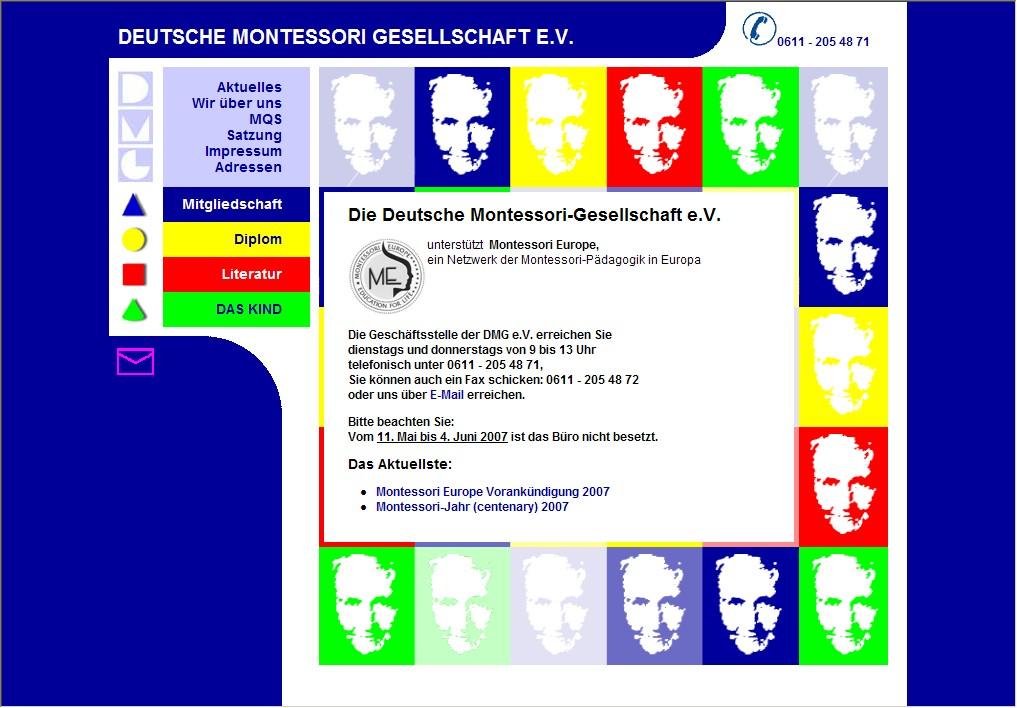 Webdesign für Deutsche-Montessori-Gesellschaft