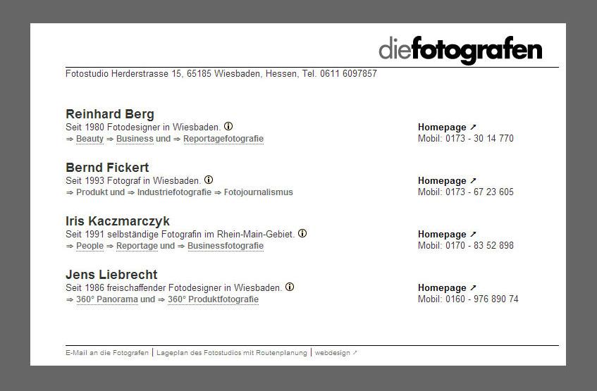 Webdesign für Die-Fotografen - Wiesbaden