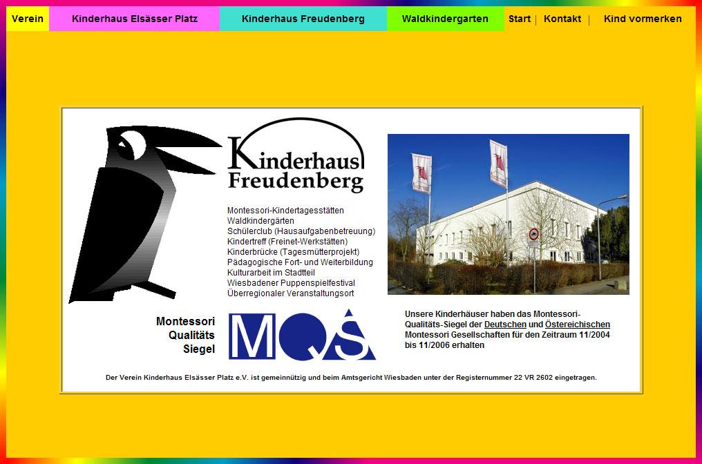 Webdesign für das Kinderhaus am Elsaesser Platz in Wiesbaden