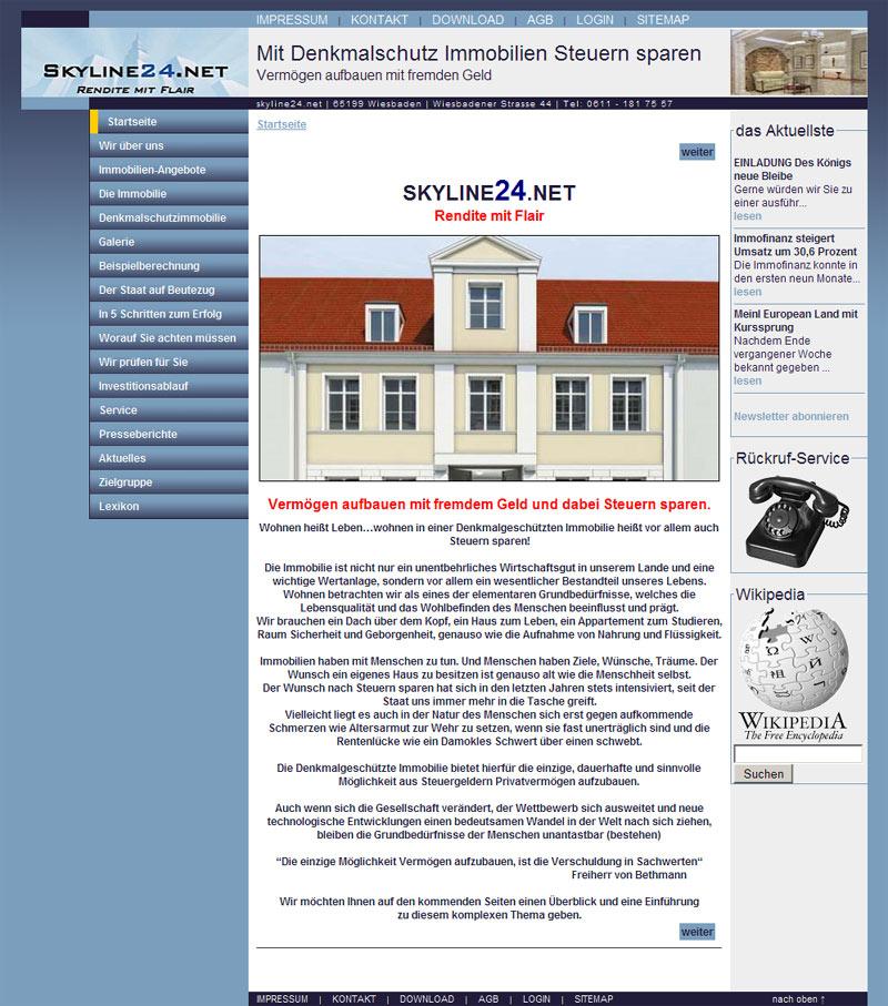 Webdesign für Mit Denkmalschutz Immobilien Steuern sparen